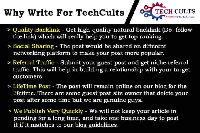 Tech Cults - Why Write For Us